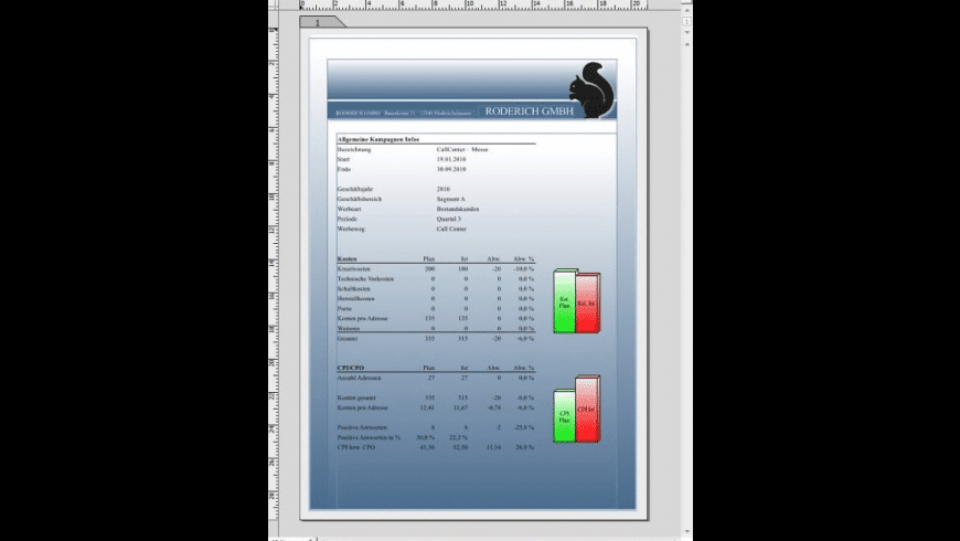 RagTime for Mac - review, screenshots