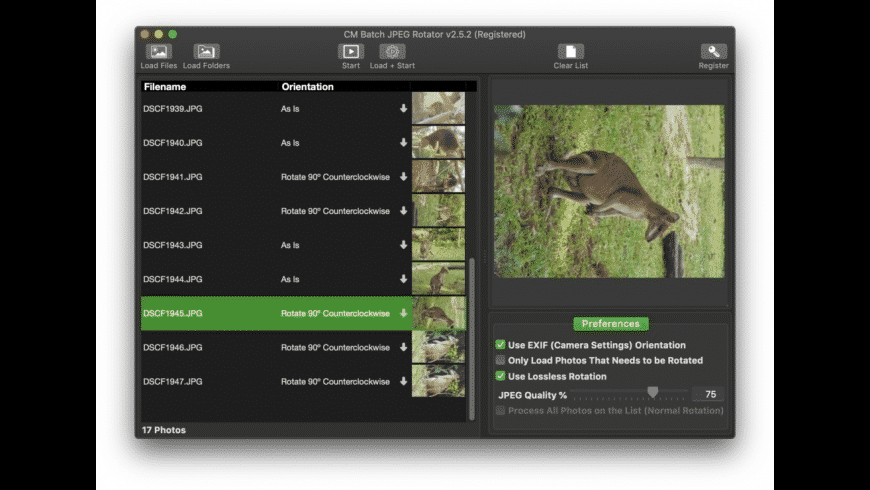 CM Batch JPEG Rotator for Mac - review, screenshots