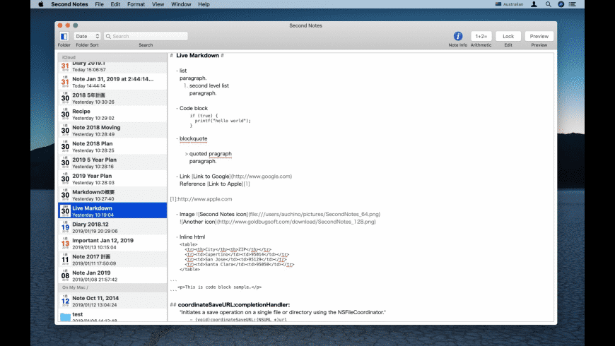 Second Notes for Mac - review, screenshots