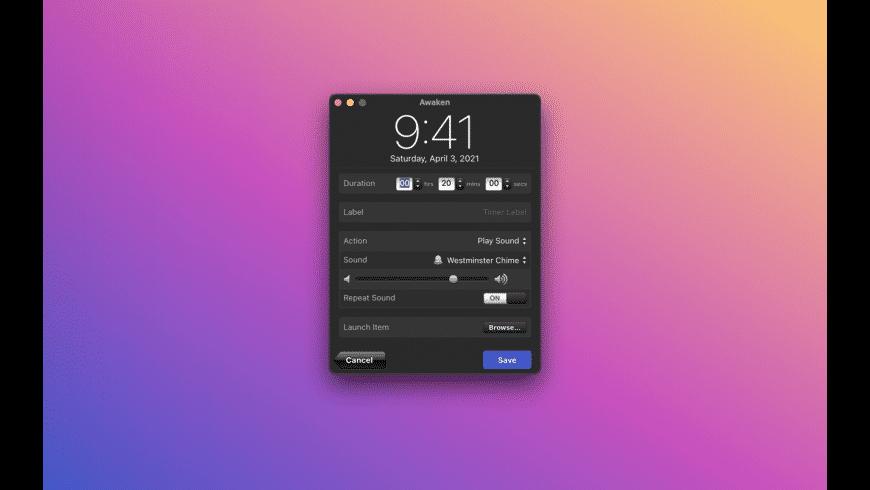 Awaken for Mac - review, screenshots