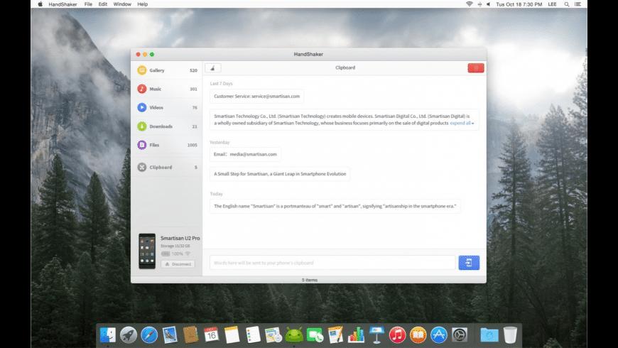 HandShaker for Mac - review, screenshots