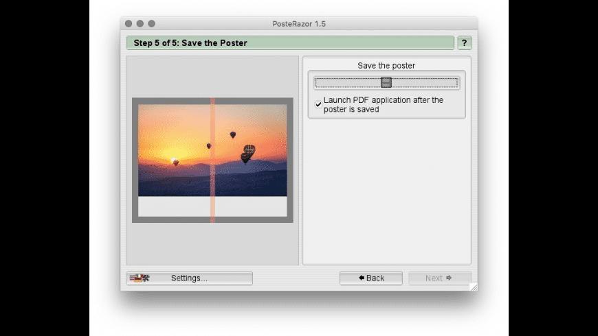 PosteRazor for Mac - review, screenshots