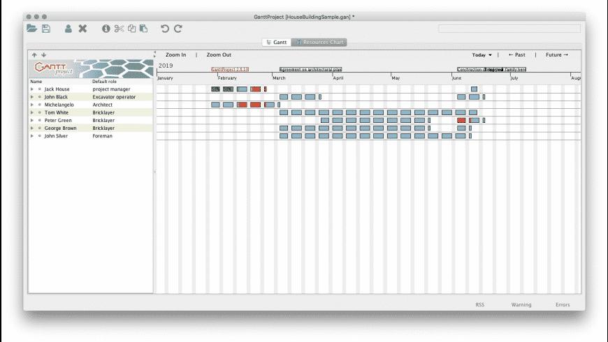 GanttProject for Mac - review, screenshots