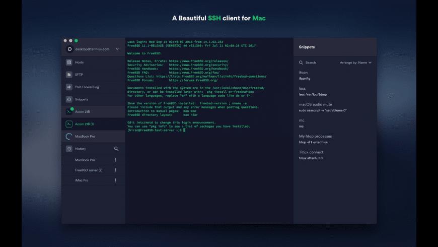 Termius for Mac - review, screenshots