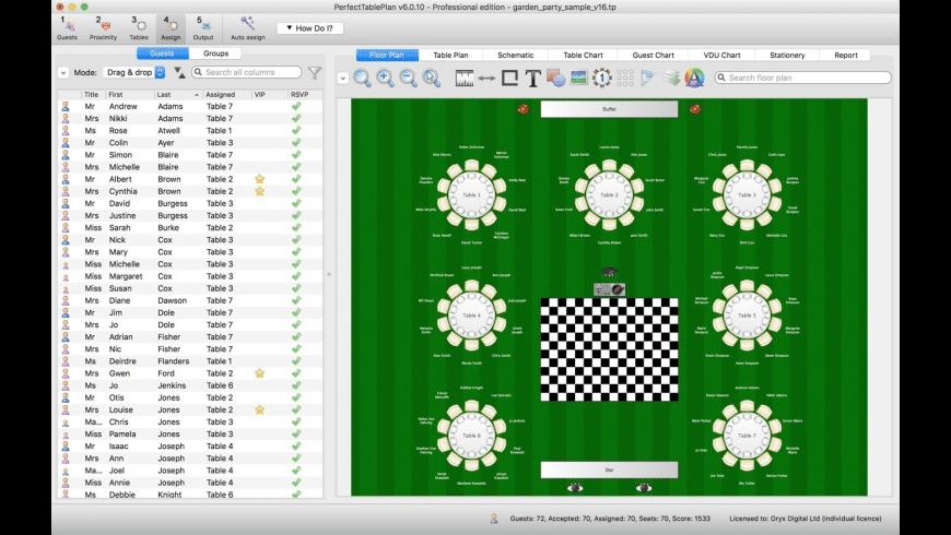 PerfectTablePlan for Mac - review, screenshots