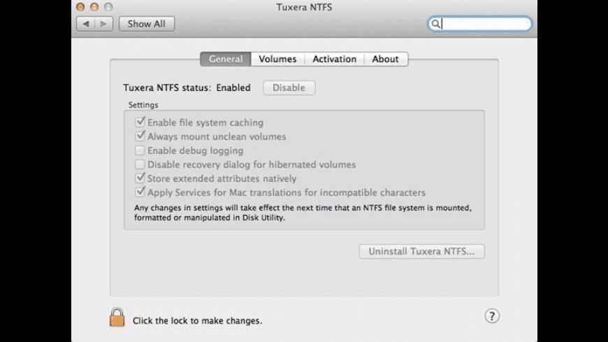 Tuxera NTFS for Mac - review, screenshots