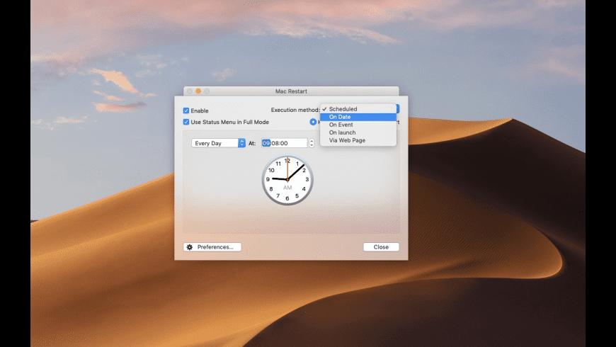 Mac Restart for Mac - review, screenshots