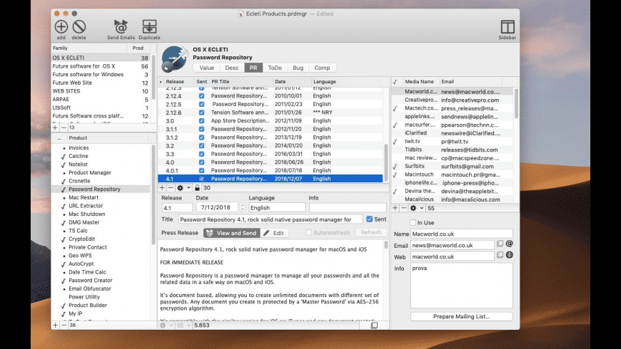 Product Manager for Mac - review, screenshots