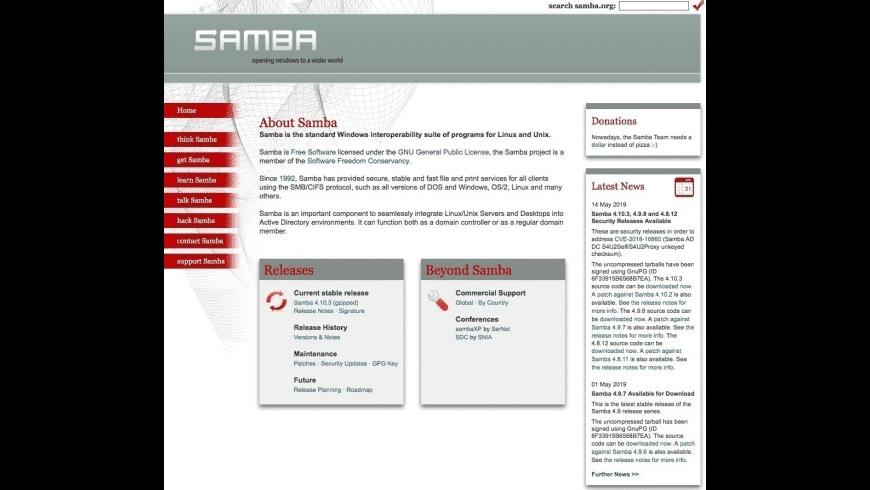 Samba for Mac - review, screenshots
