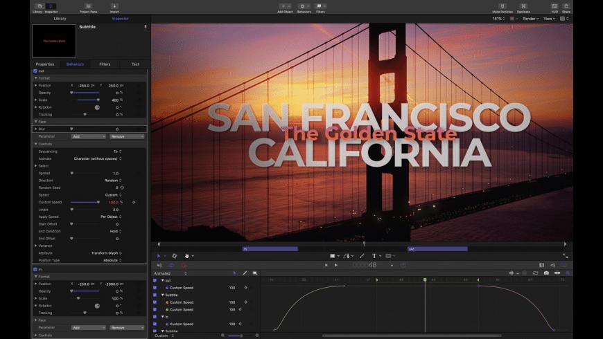 Motion for Mac - review, screenshots