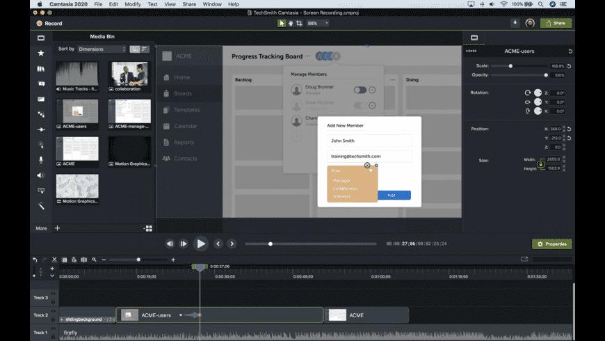 Camtasia for Mac - review, screenshots
