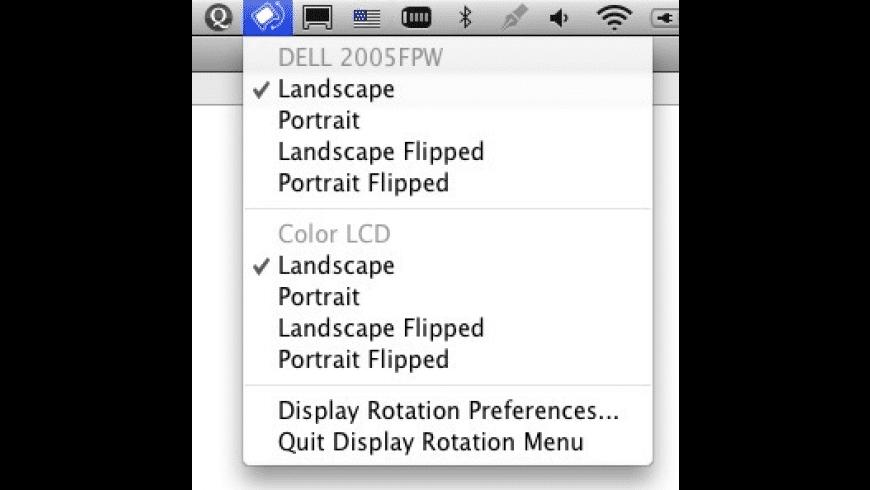Display Rotation Menu for Mac - review, screenshots