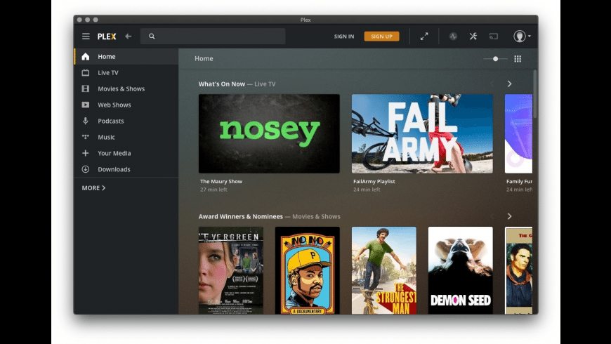 Plex for Mac - review, screenshots
