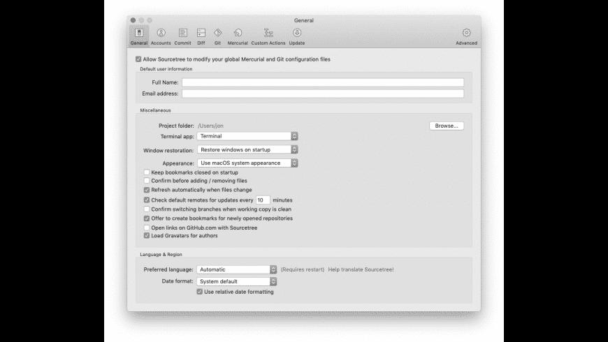 Using Sourcetree