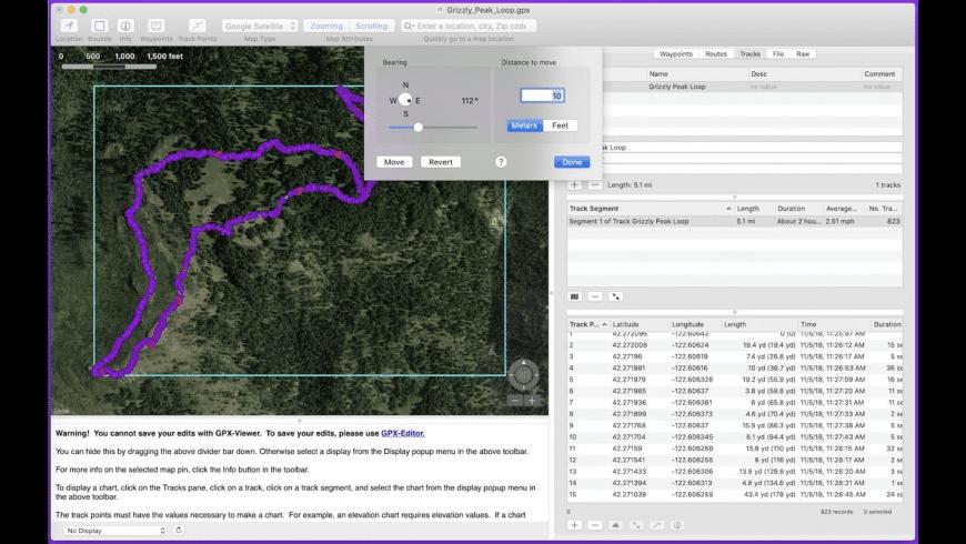 GPX Viewer for Mac - review, screenshots