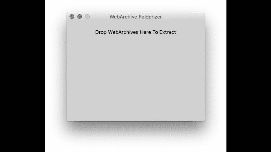WebArchive Folderizer for Mac - review, screenshots