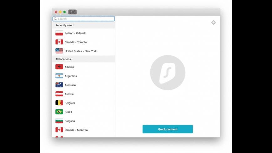 Surfshark for Mac - review, screenshots