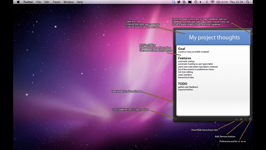 SideWriter for Mac - review, screenshots