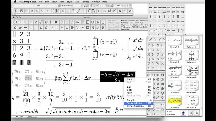 MathMagic Lite for Mac - review, screenshots
