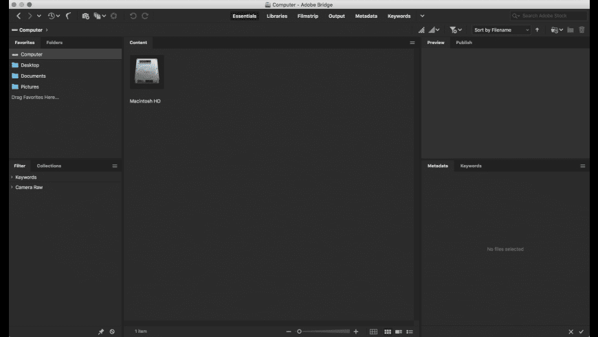 Adobe Bridge for Mac - review, screenshots