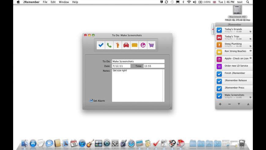 2Remember for Mac - review, screenshots
