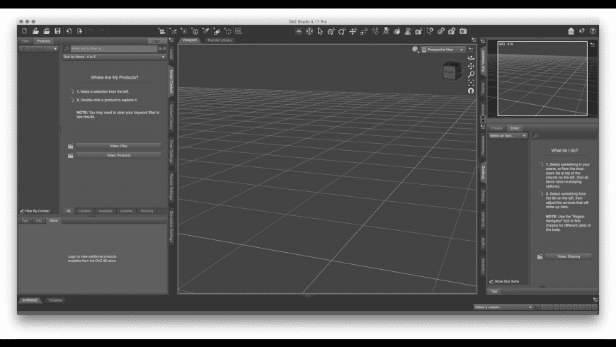 DAZ Studio for Mac - review, screenshots