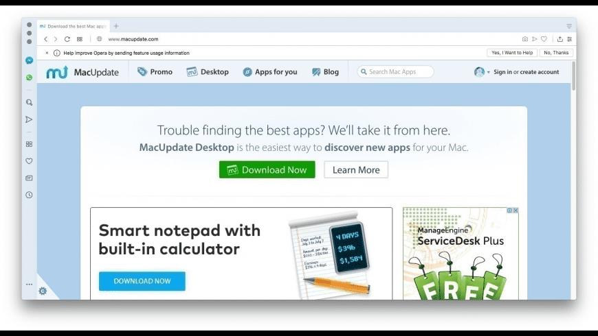 Opera for Mac - review, screenshots