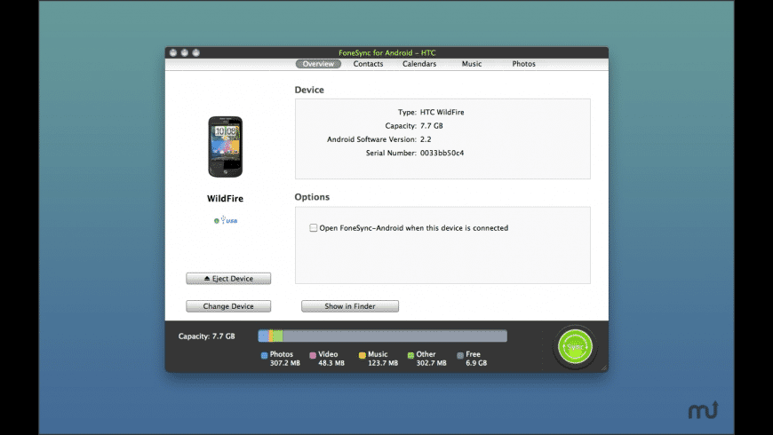 FoneSync for Android - HTC for Mac - review, screenshots