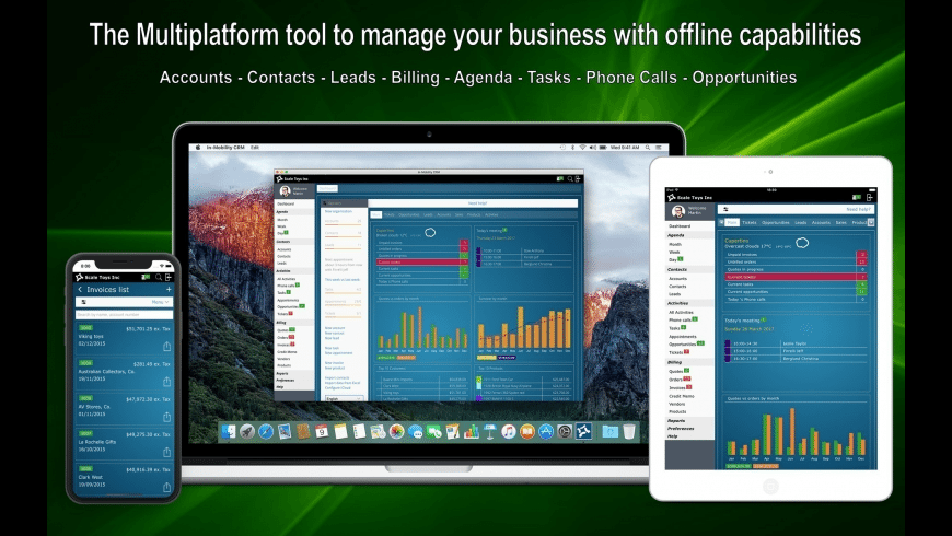 In-Mobility CRM for Mac - review, screenshots