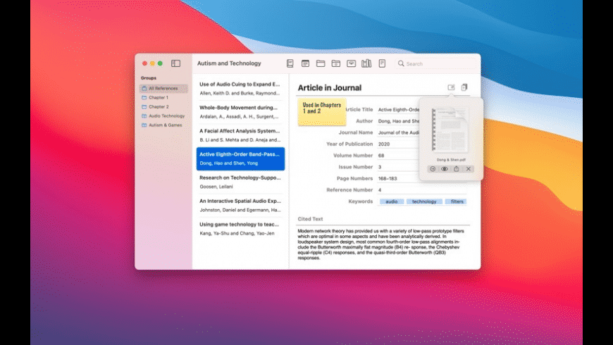 Reference Tracker for Mac - review, screenshots