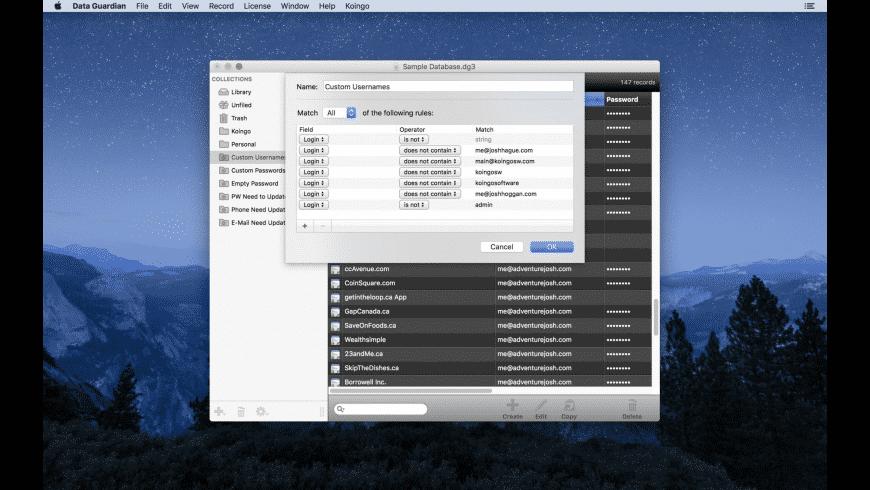 Data Guardian for Mac - review, screenshots