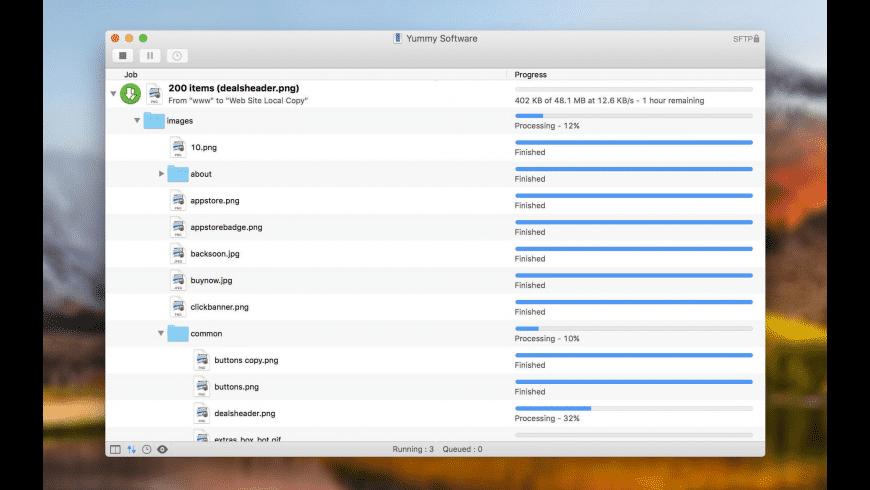 Yummy FTP Pro for Mac - review, screenshots