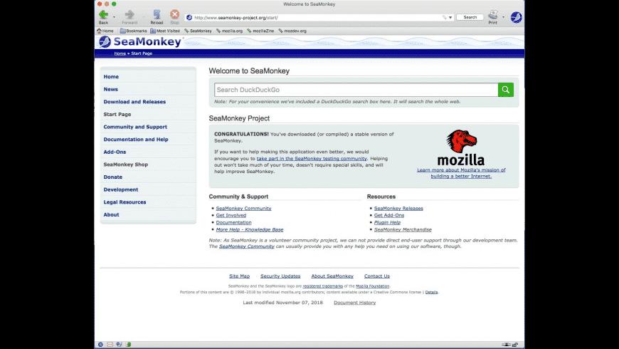 SeaMonkey for Mac - review, screenshots