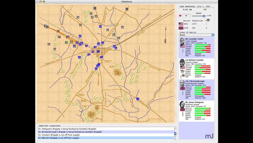 Gettysburg for Mac - review, screenshots