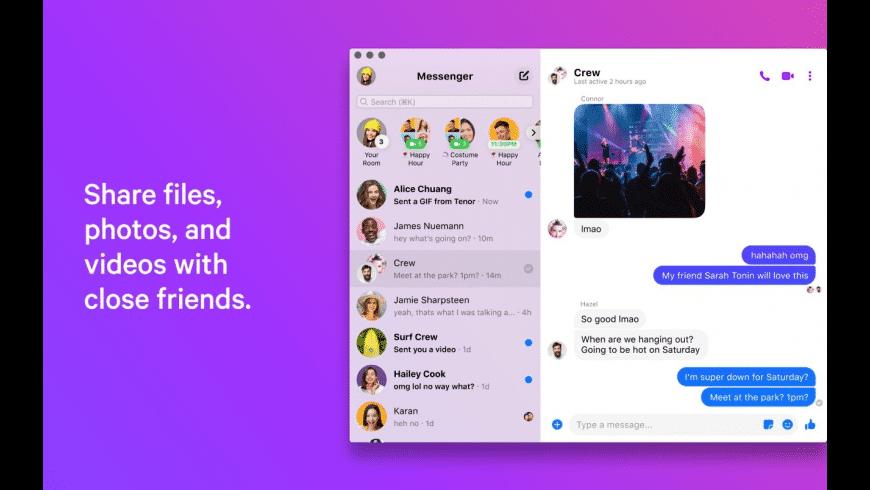 Messenger for Mac - review, screenshots