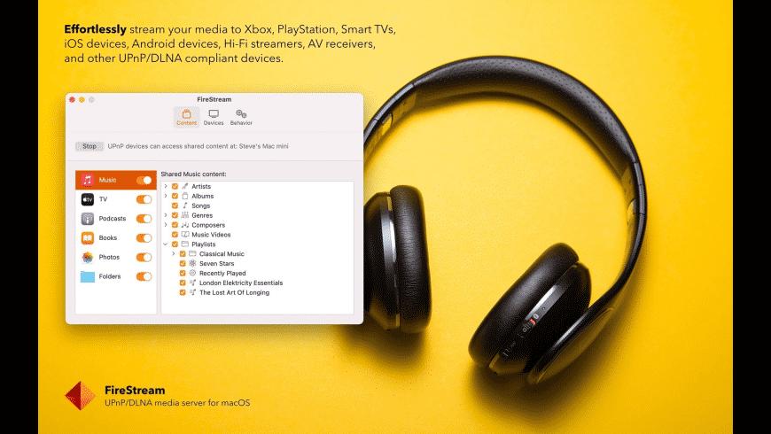 FireStream for Mac - review, screenshots