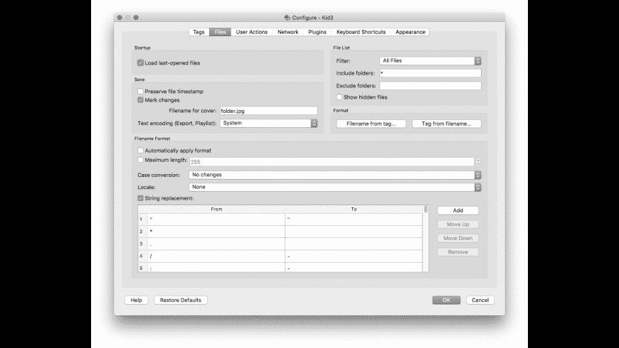 Kid3 for Mac - review, screenshots