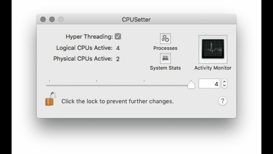 CPUSetter for Mac - review, screenshots