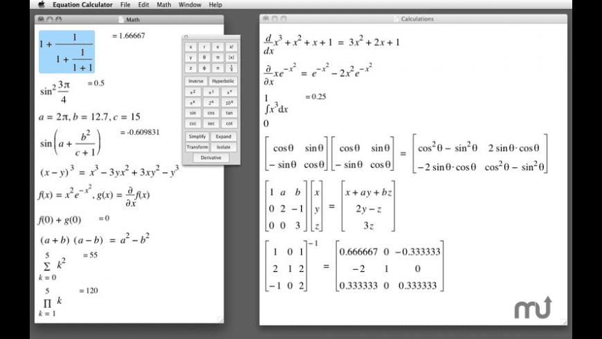 Equation Calculator for Mac - review, screenshots