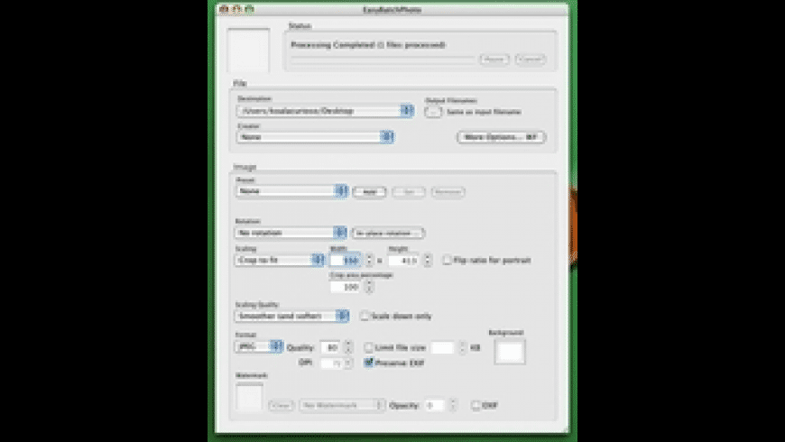 EasyBatchPhoto for Mac - review, screenshots