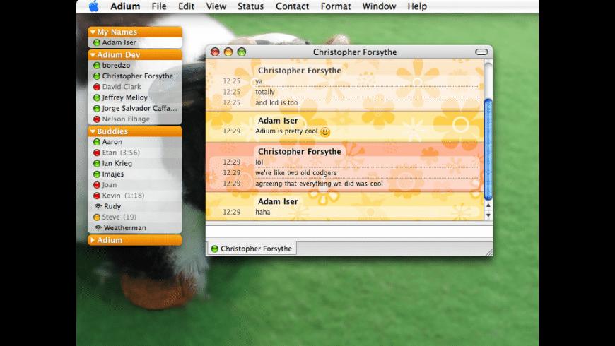 Adium for Mac - review, screenshots