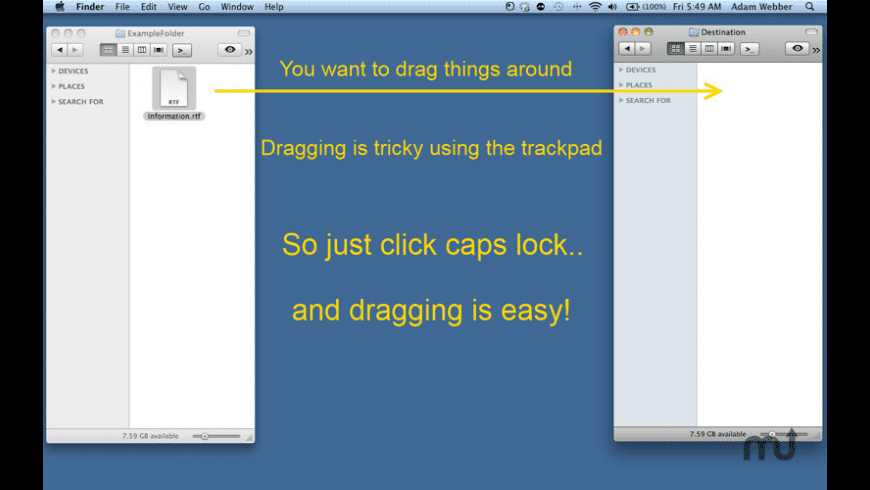 Click and Drag for Mac - review, screenshots