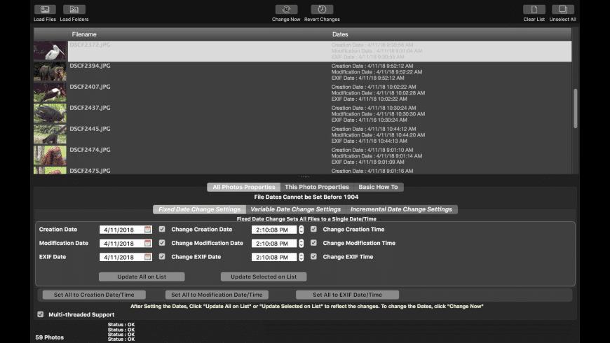 CM Batch MMedia Date Changer for Mac - review, screenshots