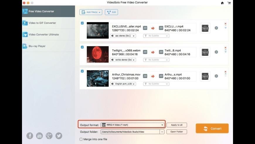 VideoSolo Video Converter for Mac - review, screenshots