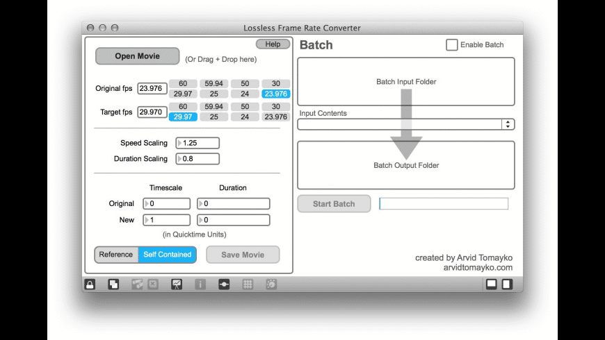 Lossless Frame Rate Converter for Mac - review, screenshots