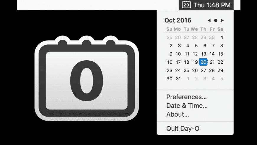 Day-O for Mac - review, screenshots