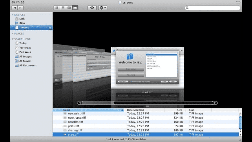 iZip for Mac - review, screenshots