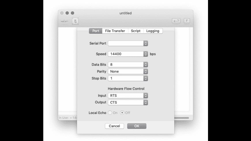 goSerial for Mac - review, screenshots