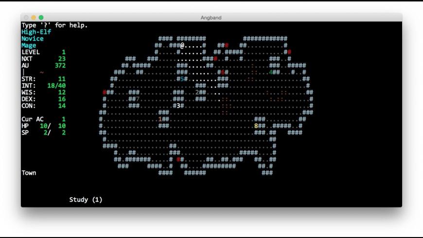 Angband for Mac - review, screenshots
