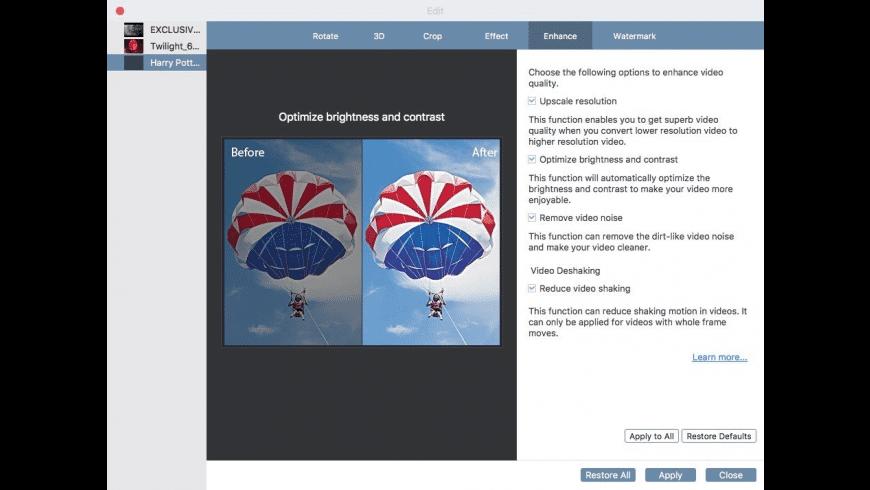 Video Converter Ultimate for Mac - review, screenshots